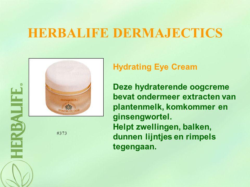 HERBALIFE DERMAJECTICS Hydrating Eye Cream Deze hydraterende oogcreme bevat ondermeer extracten van plantenmelk, komkommer en ginsengwortel. Helpt zwe