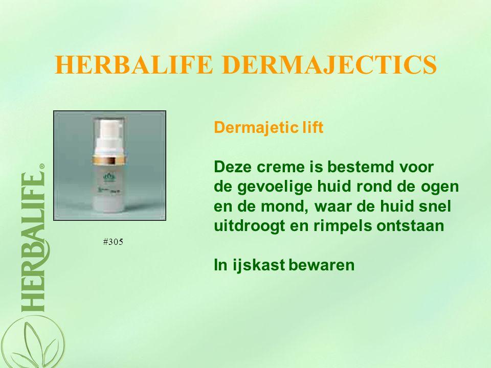 HERBALIFE DERMAJECTICS Dermajetic lift Deze creme is bestemd voor de gevoelige huid rond de ogen en de mond, waar de huid snel uitdroogt en rimpels on