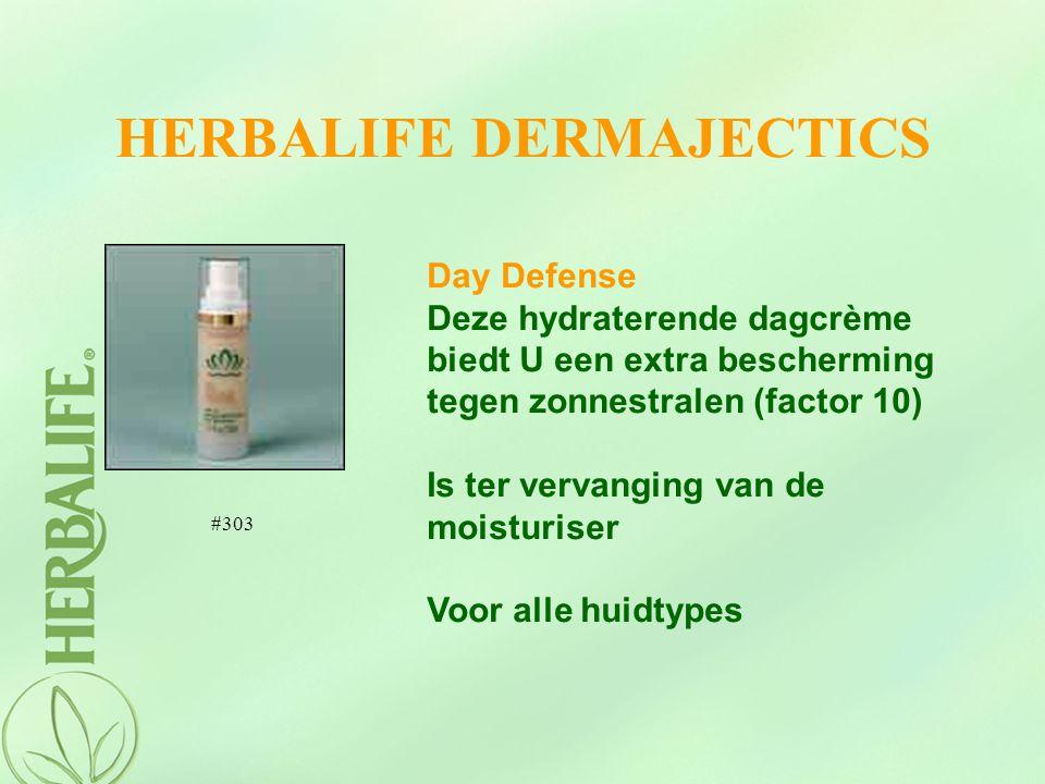 HERBALIFE DERMAJECTICS Day Defense Deze hydraterende dagcrème biedt U een extra bescherming tegen zonnestralen (factor 10) Is ter vervanging van de mo