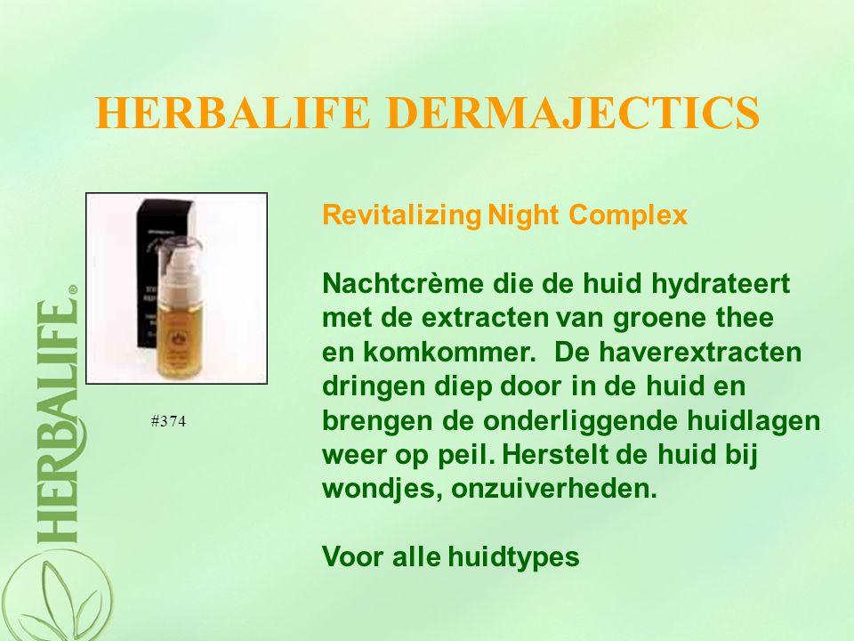 HERBALIFE DERMAJECTICS Revitalizing Night Complex Nachtcrème die de huid hydrateert met de extracten van groene thee en komkommer. De haverextracten d
