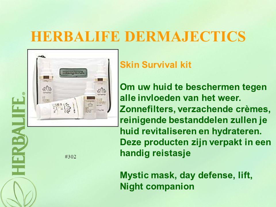 HERBALIFE DERMAJECTICS Skin Survival kit Om uw huid te beschermen tegen alle invloeden van het weer. Zonnefilters, verzachende crèmes, reinigende best