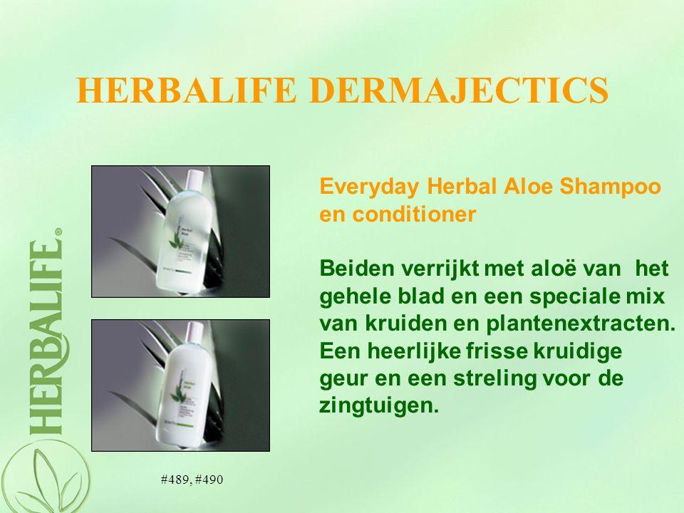HERBALIFE DERMAJECTICS Everyday Herbal Aloe Shampoo en conditioner Beiden verrijkt met aloë van het gehele blad en een speciale mix van kruiden en pla