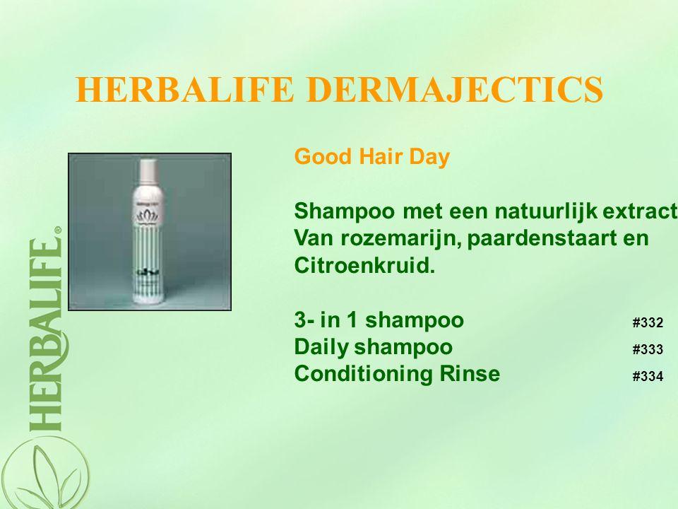 HERBALIFE DERMAJECTICS Good Hair Day Shampoo met een natuurlijk extract Van rozemarijn, paardenstaart en Citroenkruid. 3- in 1 shampoo #332 Daily sham