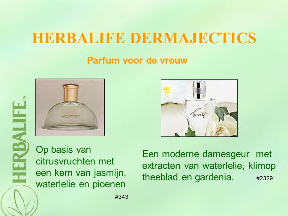 Parfum voor de vrouw HERBALIFE DERMAJECTICS Op basis van citrusvruchten met een kern van jasmijn, waterlelie en pioenen #343 Een moderne damesgeur met