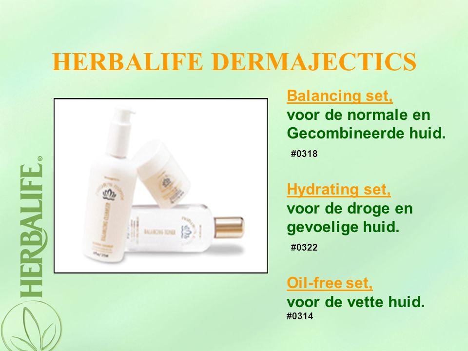HERBALIFE DERMAJECTICS Balancing set, voor de normale en Gecombineerde huid. #0318 Hydrating set, voor de droge en gevoelige huid. #0322 Oil-free set,