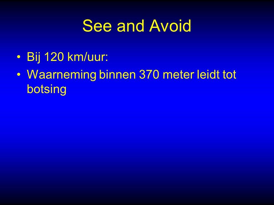 See and Avoid Bij 120 km/uur: Waarneming binnen 370 meter leidt tot botsing