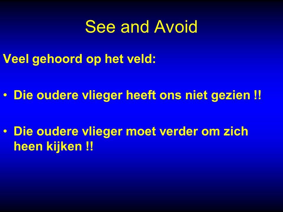 See and Avoid Veel gehoord op het veld: Die oudere vlieger heeft ons niet gezien !.