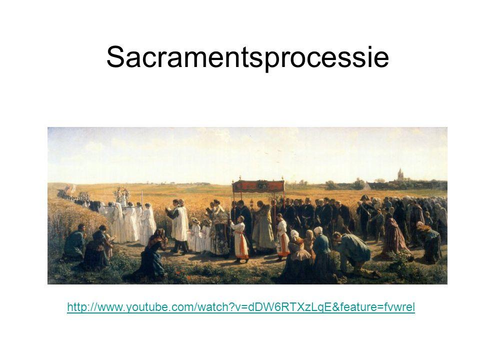 Sacramentsprocessie http://www.youtube.com/watch?v=dDW6RTXzLqE&feature=fvwrel