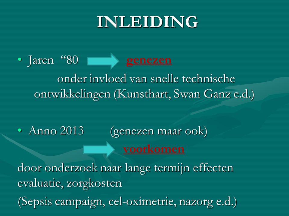 """INLEIDING Jaren """"80Jaren """"80 genezen onder invloed van snelle technische ontwikkelingen (Kunsthart, Swan Ganz e.d.) onder invloed van snelle technisch"""