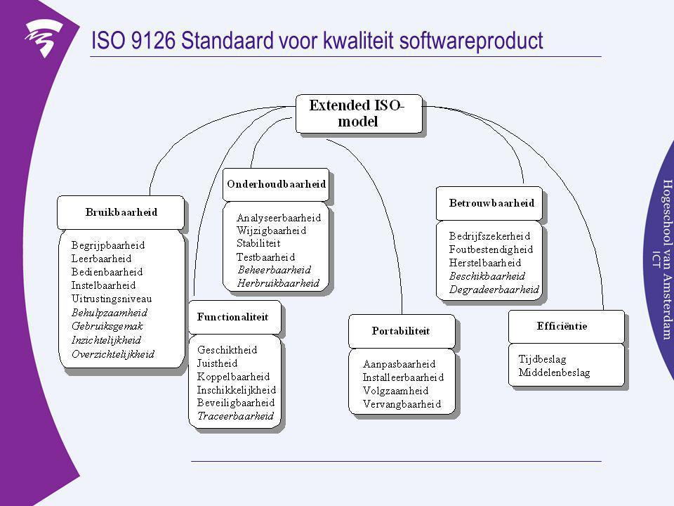 ISO 9126 Standaard voor kwaliteit softwareproduct