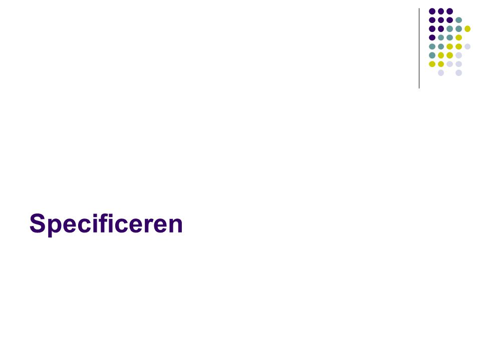 Specificeren