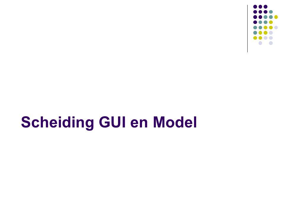 Scheiding GUI en Model