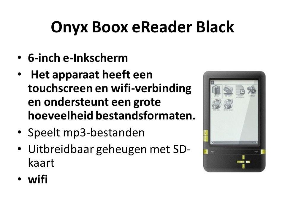 Onyx Boox eReader Black 6-inch e-Inkscherm Het apparaat heeft een touchscreen en wifi-verbinding en ondersteunt een grote hoeveelheid bestandsformaten