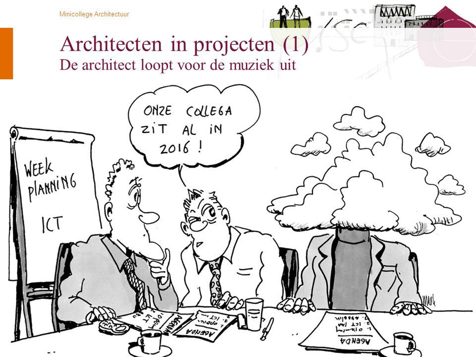 © Twynstra Gudde 21-4-2009 Minicollege Architectuur 74 Architecten in projecten (1) De architect loopt voor de muziek uit