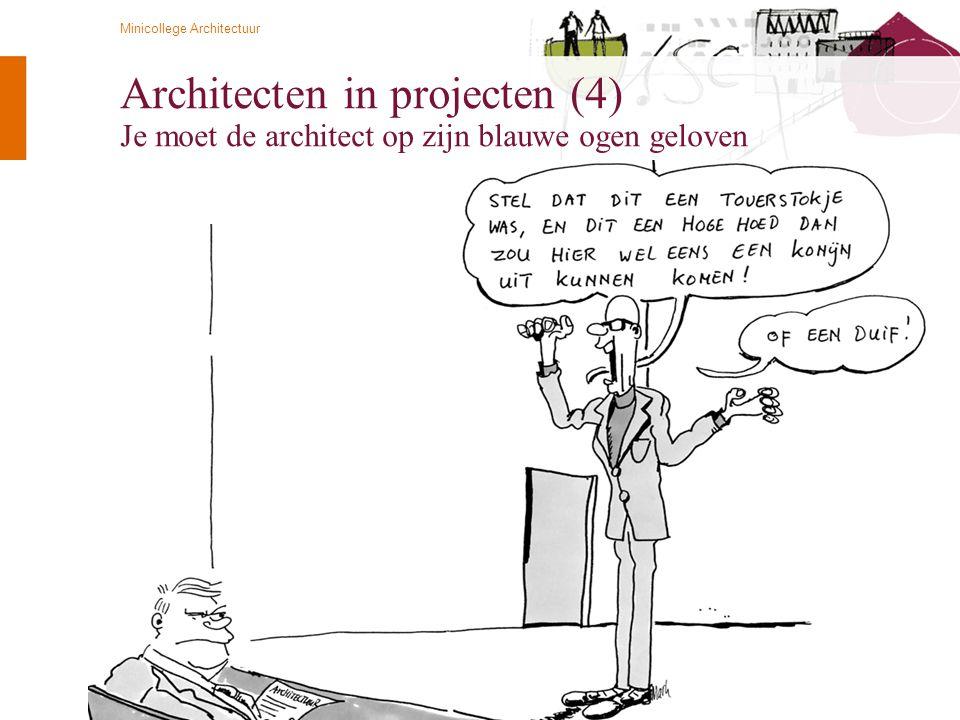 © Twynstra Gudde 21-4-2009 Minicollege Architectuur 77 Architecten in projecten (4) Je moet de architect op zijn blauwe ogen geloven