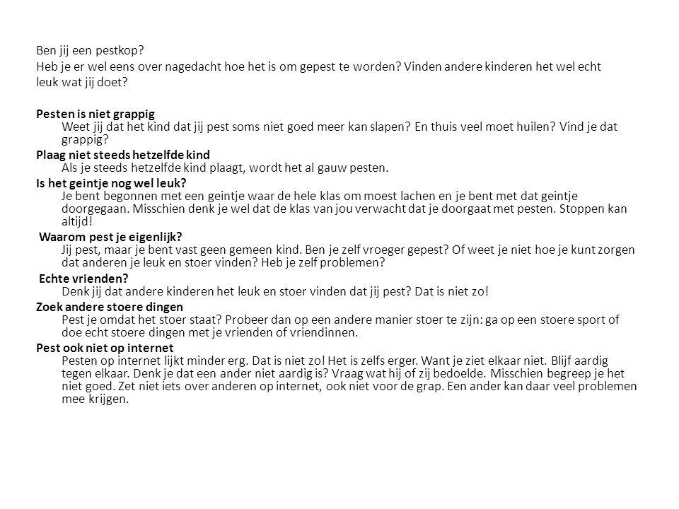 Bron: www.pestweb.nl