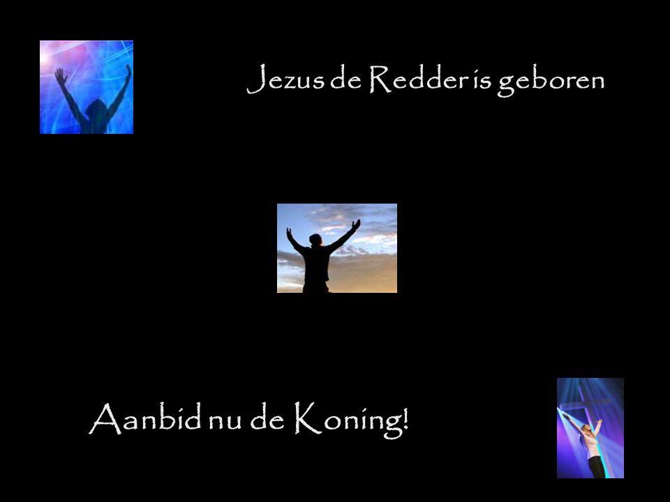 Jezus de Redder is geboren Aanbid nu de Koning!