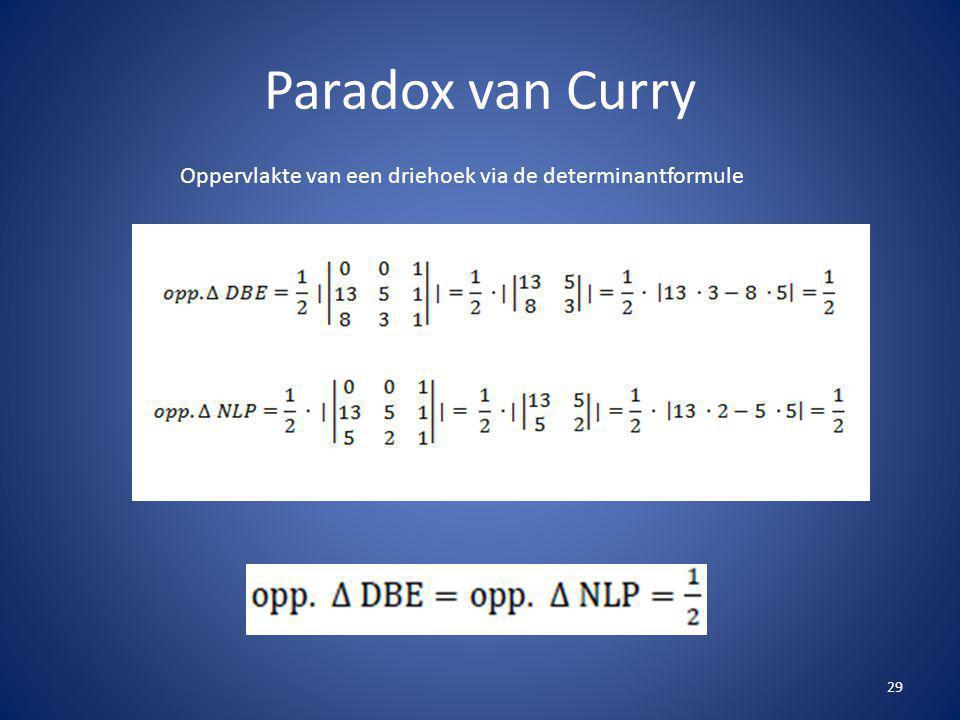 Paradox van Curry 29 Oppervlakte van een driehoek via de determinantformule