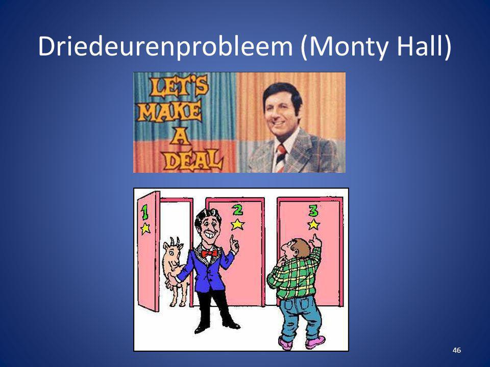 Driedeurenprobleem (Monty Hall) 46