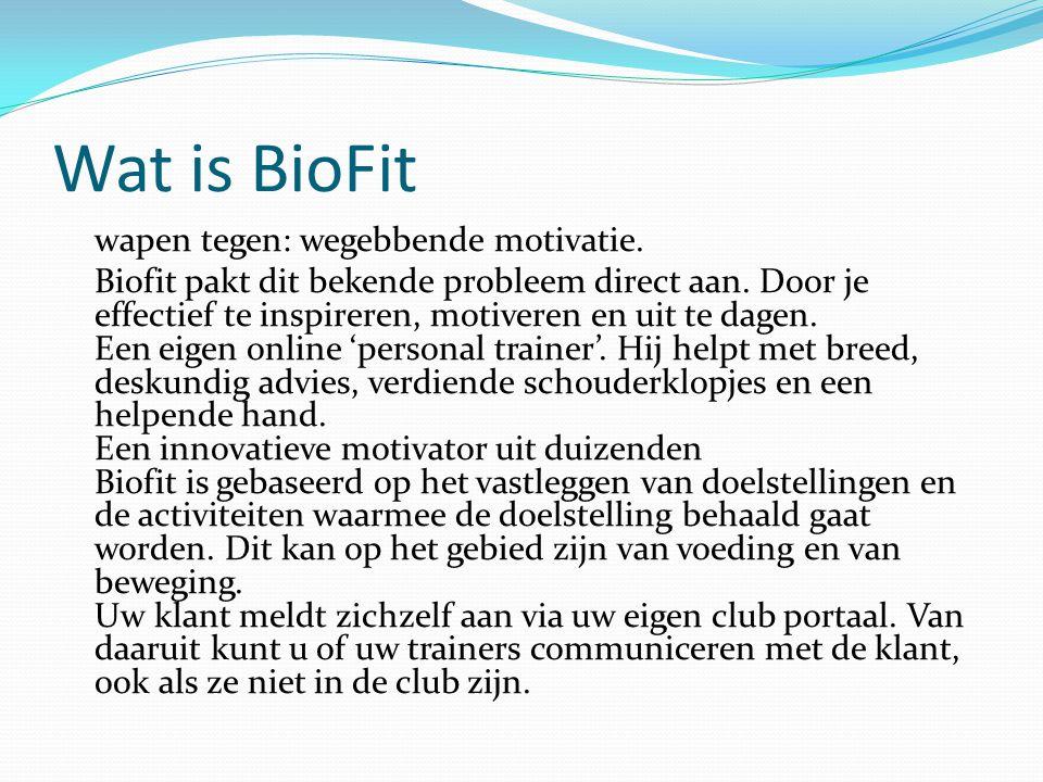 Wat is BioFit wapen tegen: wegebbende motivatie. Biofit pakt dit bekende probleem direct aan. Door je effectief te inspireren, motiveren en uit te dag