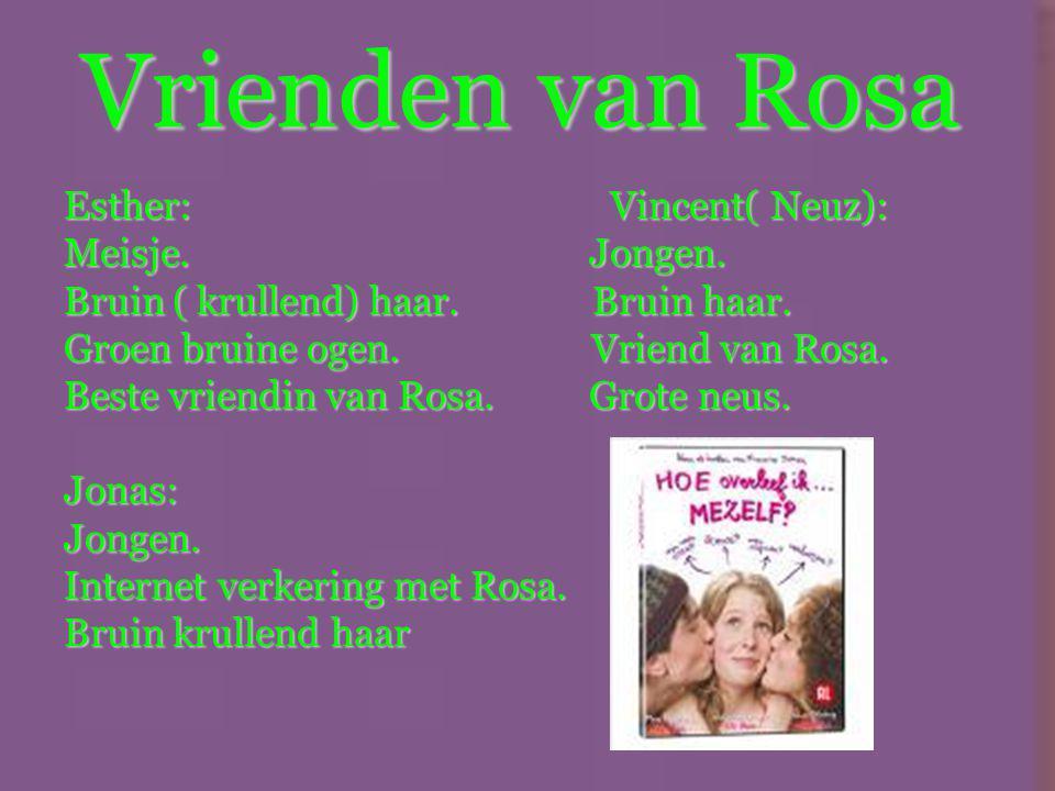 De hoofdpersoon Rosa van Dijk Meisje Blond haar 16 jaar Blauwe ogen Onzeker