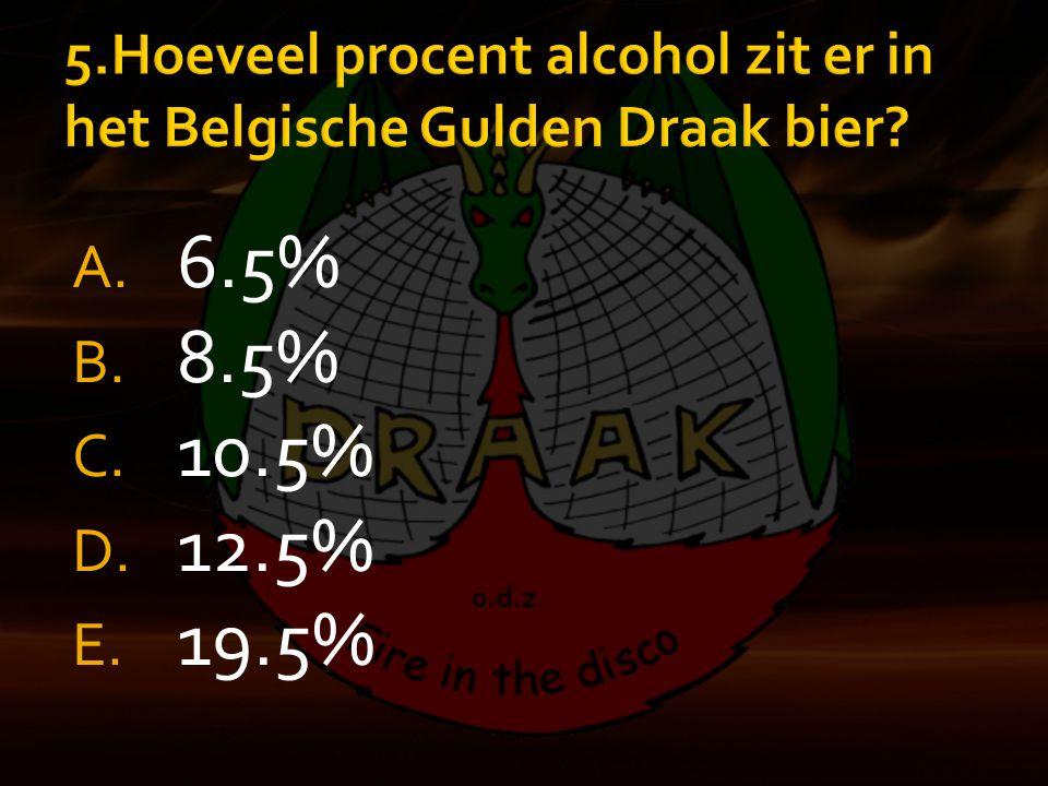 A. 6.5% B. 8.5% C. 10.5% D. 12.5% E. 19.5%
