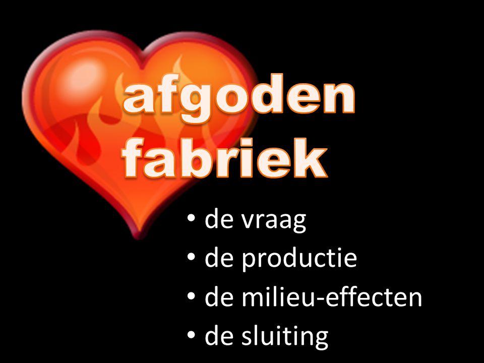 De afgodenfabriek de milieu-effecten Afgoden zijn fake-producten.