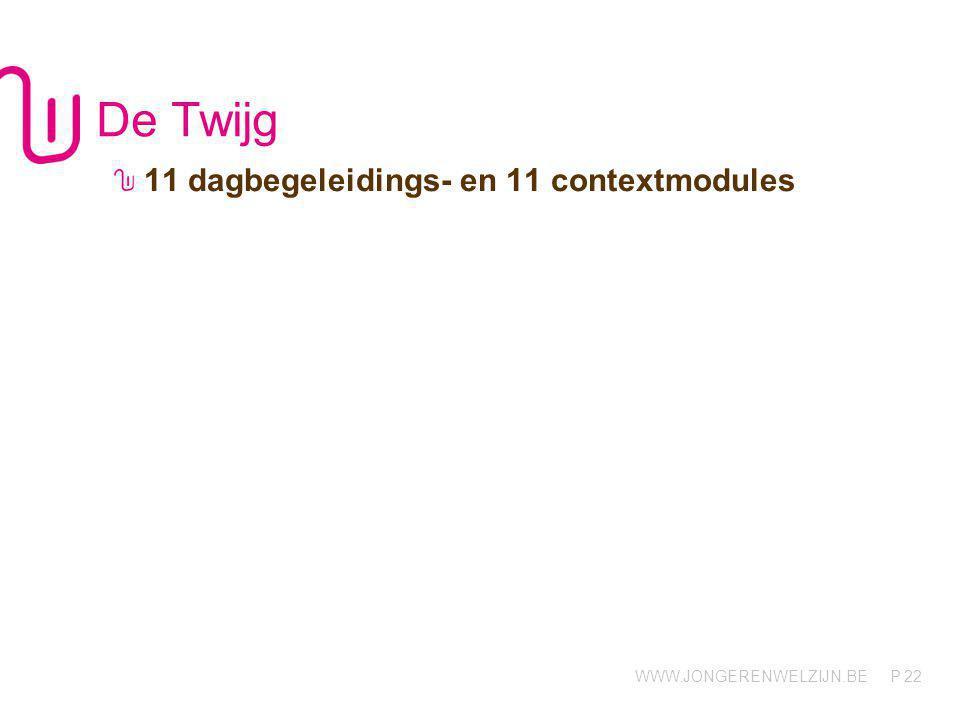 WWW.JONGERENWELZIJN.BE P De Totem 12 dagbegeleidings- en 12 contextmodules 23