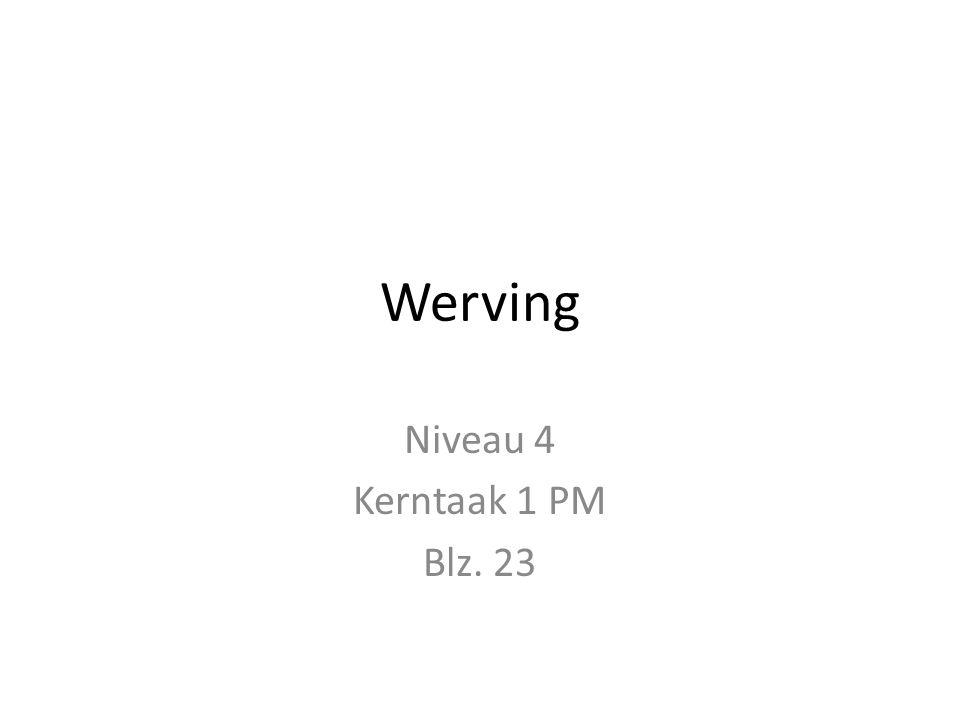 Werving Niveau 4 Kerntaak 1 PM Blz. 23