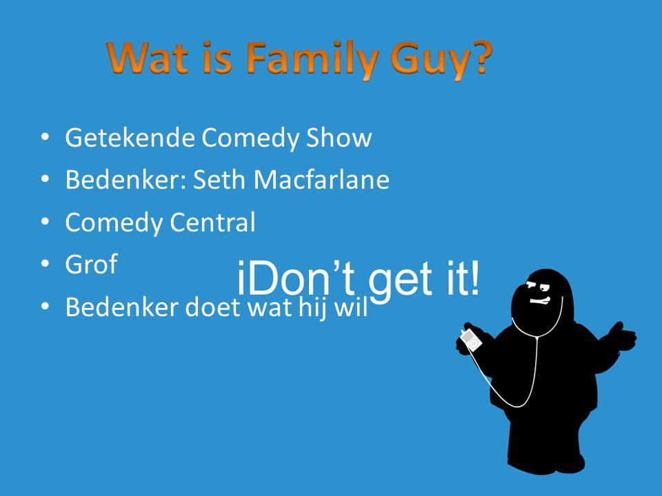 Getekende Comedy Show Bedenker: Seth Macfarlane Comedy Central Grof Bedenker doet wat hij wil