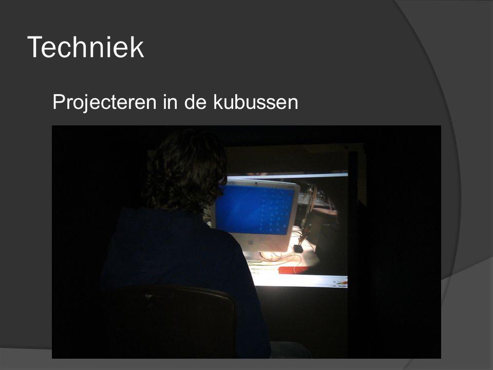 Techniek Projecteren in de kubussen