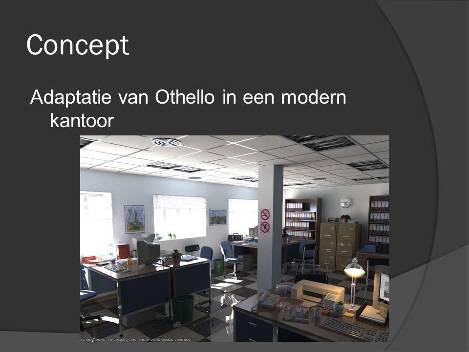 Concept Adaptatie van Othello in een modern kantoor