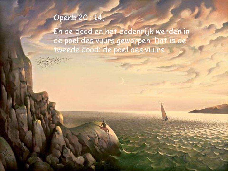 Op.20:13, En de zee gaf de doden, die in haar waren, en de dood en het dodenrijk gaven de doden, die in hen waren, en zij werden geoordeeld, een ieder