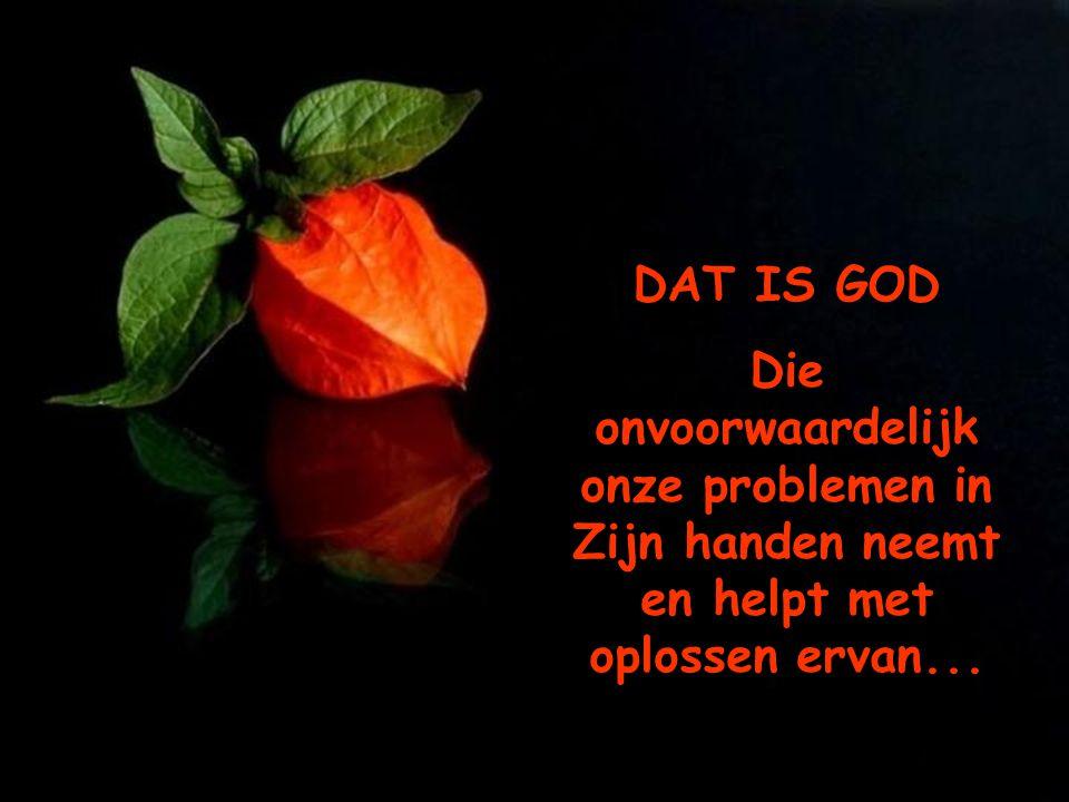 Heb je je ooit in een moeilijke situatie bevonden, waarvoor geen oplossing voorhanden was, en als in een oogwenk was daar de oplossing???