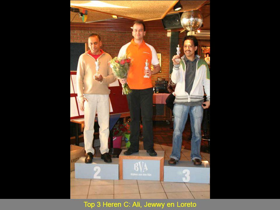 Top 3 Heren C: Ali, Jewwy en Loreto