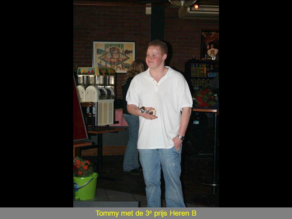 Tommy met de 3 e prijs Heren B