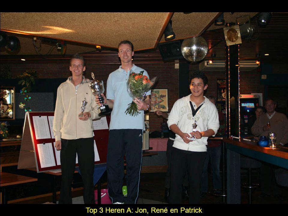 Top 3 Heren A: Jon, René en Patrick