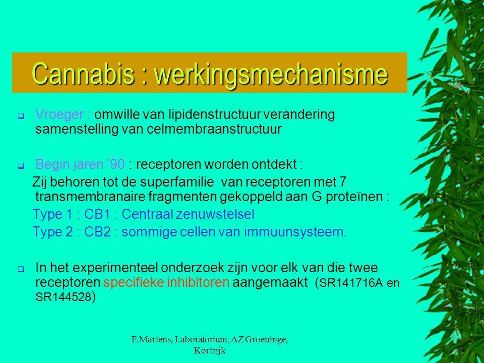 F.Martens, Laboratorium, AZ Groeninge, Kortrijk  Vroeger : omwille van lipidenstructuur verandering samenstelling van celmembraanstructuur  Begin ja