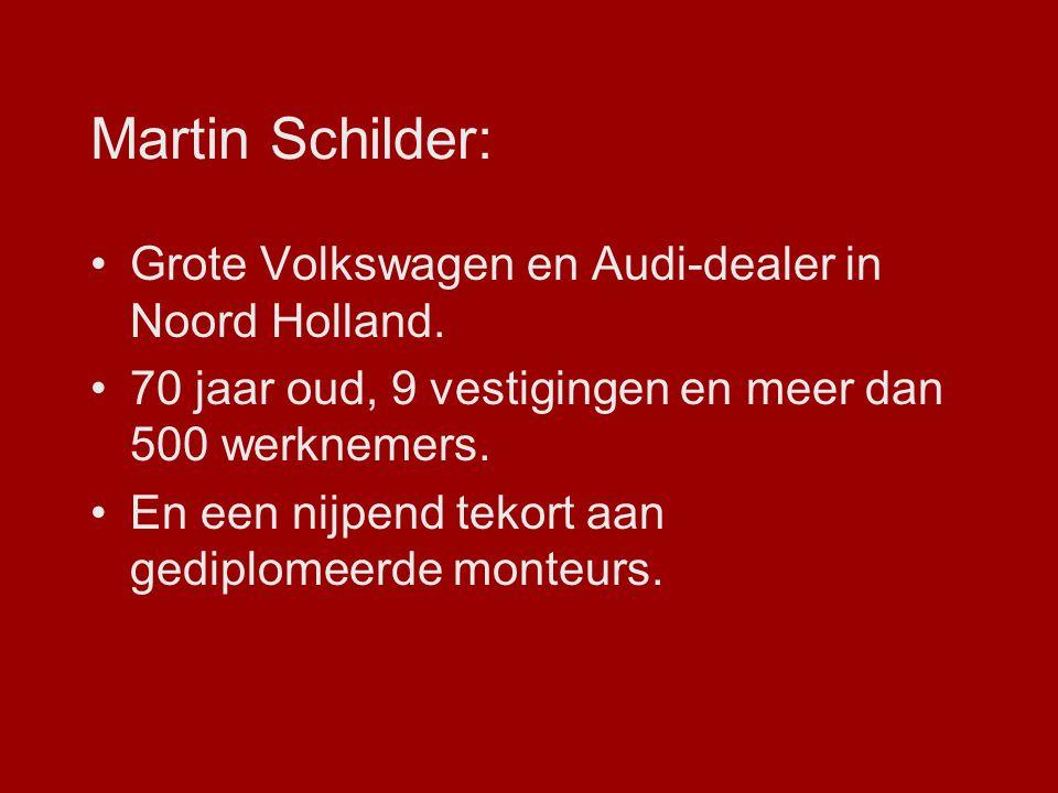Martin Schilder: Grote Volkswagen en Audi-dealer in Noord Holland. 70 jaar oud, 9 vestigingen en meer dan 500 werknemers. En een nijpend tekort aan ge