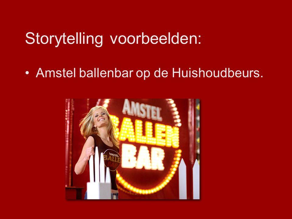 Storytelling voorbeelden: Amstel ballenbar op de Huishoudbeurs.