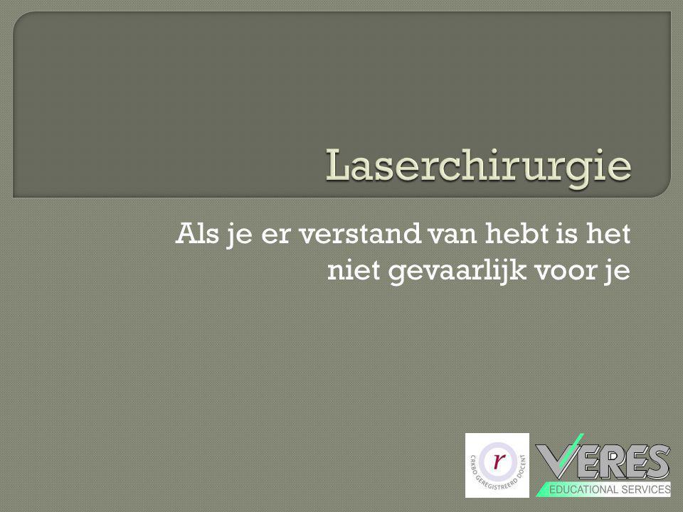  Laserrook kan virusdeeltjes bevatten  Laserrook bevat PAK's (sommigen daarvan zijn mogelijk carcinogeen) Draag een mondmasker.