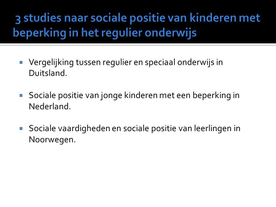  Vroeger  Separaat speciaal onderwijs. kinderen met beperking=> speciale scholen.