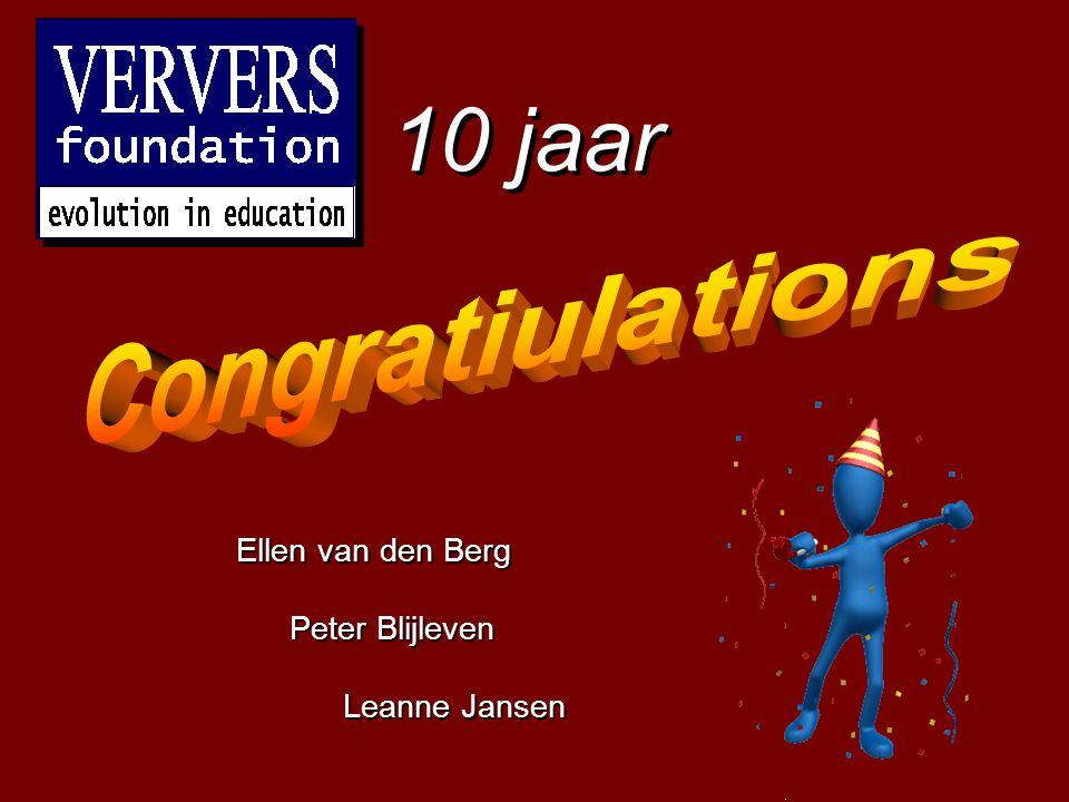 Classificatie digitale leer- en hulpmiddelen © 2000-2009, Universiteit Twente / Ververs Foundation 10 jaar Ellen van den Berg Peter Blijleven Leanne J