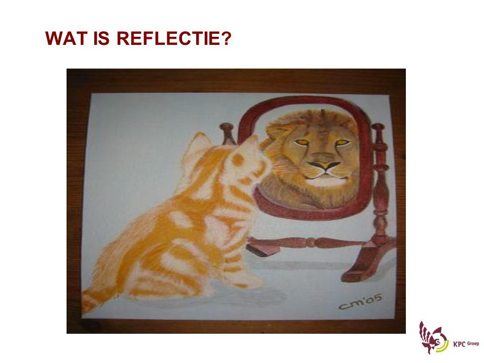Reflecteren – verbreden en verdiepen van competent gedrag