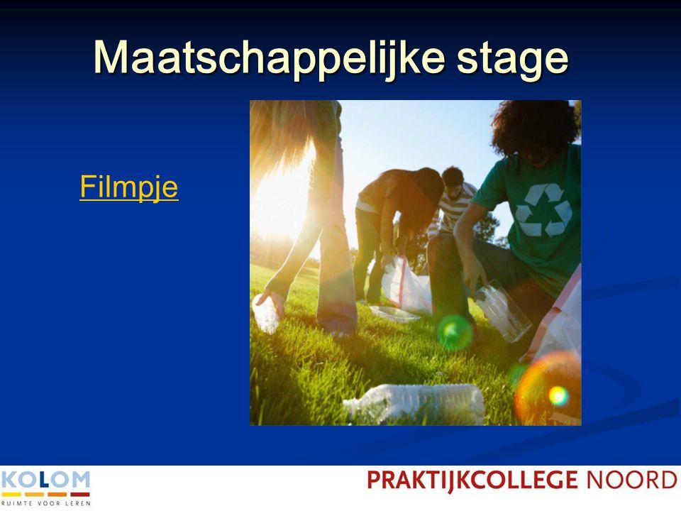 Maatschappelijke stage Wat is maatschappelijke stage.