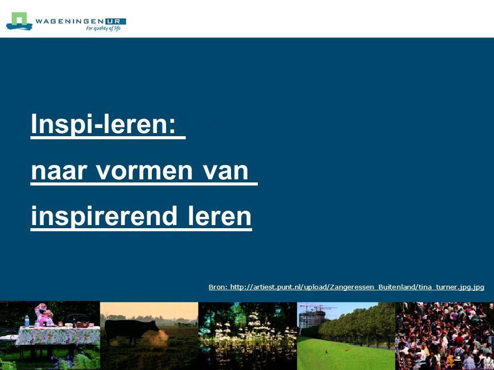Inspi-leren: naar vormen van inspirerend leren Bron: http://artiest.punt.nl/upload/Zangeressen_Buitenland/tina_turner.jpg.jpg