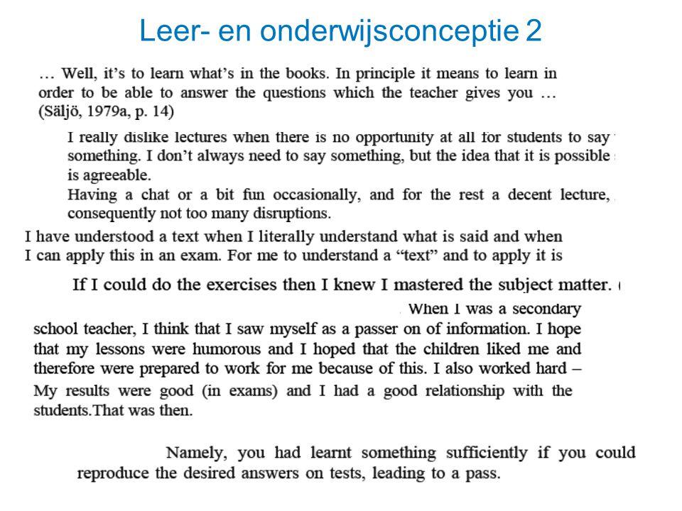Leer- en onderwijsconceptie 2