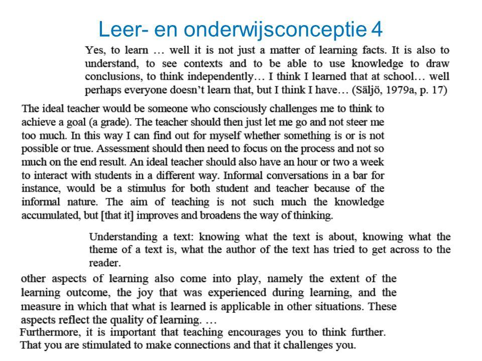 Leer- en onderwijsconceptie 4