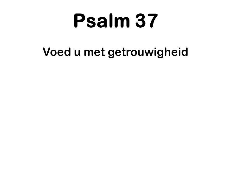Psalm 37 Voed u met getrouwigheid