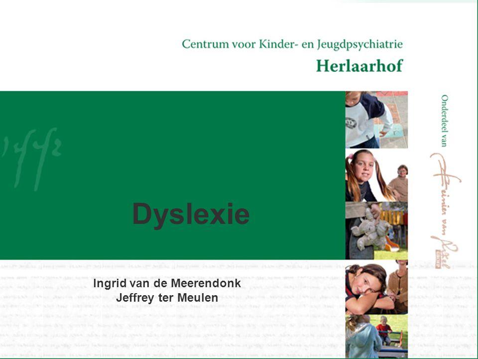 Dyslexie Ingrid van de Meerendonk Jeffrey ter Meulen